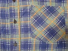 Vintage Men's Saugatuck Blue Green Yellow Plaid by GentlyUsedGoods