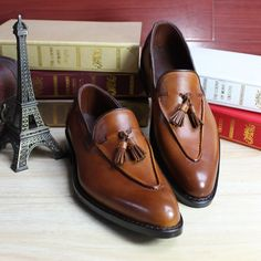 222.44$  Watch here - http://ali8lf.worldwells.pw/go.php?t=32496364922 - SKP126Custom Made Goodyear 100% Genuine Leather Handmade loafers Shoes, Men's Handcraft Dress Formal Shoes Large/Plus Size 222.44$