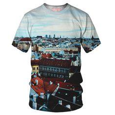 Tshirt Europa  speciale tecnica di sublimazione di YoVogue su Etsy, $33.95