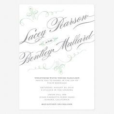 Prim and Proper Wedding Invitations www.lovevsdesign.com