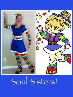 Rainbow Brite Costume I made!