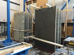 An unprotected wall (left) and one coated with EDCC (right)