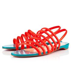 Christian Louboutin Vildo Flame Women Flat Sandals