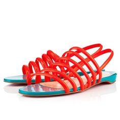 Christian Louboutin Vildo Flame Women Flat Sandals