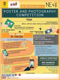 #NE6 #NutritionExpo #LombaPoster #LombaFoto #UI #Depok Nutrition Expo 2016 Poster and Photography Competition  DEADLINE: 16 September 2016  http://infosayembara.com/info-lomba.php?judul=nutrition-expo-2016-poster-and-photography-competition