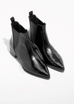cc3d6aad1ebcb6 Other Stories image 2 of Leather Chelsea Boots in Black Bottines, Chelsea  Bottes Noires