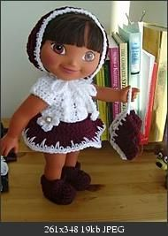 A Perfect 6! #Dora #Crochet #Outfit #Pattern from #Crochetville!
