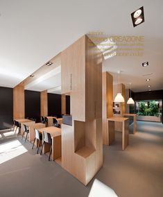 wood material use restaurant interior bedrooms de casas design interior design design office Wood Interior Design, Beautiful Interior Design, Restaurant Interior Design, Cafe Interior, Interior Design Inspiration, Modern Restaurant, Office Space Design, Modern House Design, Home Design