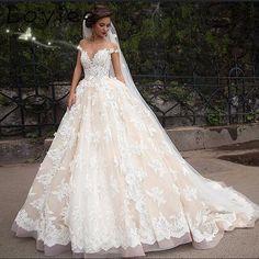 Vogue Champagne Ball Gown Wedding Dresses Turkey Off the Shoulder Lace Court Train Bridal Gowns Casamento Vestido De Noiva(China (Mainland))