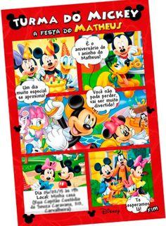 65 Melhores Imagens De Convite Do Mickey Em 2019 Convite