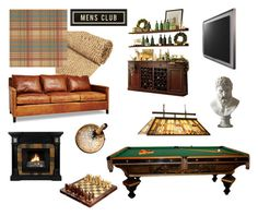 """Mens club"" by carmenb ❤ liked on Polyvore featuring interior, interiors, interior design, home, home decor, interior decorating, NOVICA, Quoizel and Home Decorators Collection"