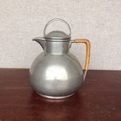 pewter with wrapped handle coffee server