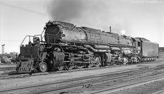 """Drehscheibe Online Foren :: 04 - Historische Bahn :: Union Pacific 4-8-8-4 """"Big Boy"""" #4022 in Cheyenne, WY, 1 gr. Schwarzweissfoto"""