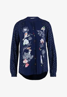 Desigual FRANCIS - Bluse - navy - Zalando.at School Outfits, Navy, Denim, Jackets, Clothes, Fashion, Blouse, Hale Navy, Down Jackets