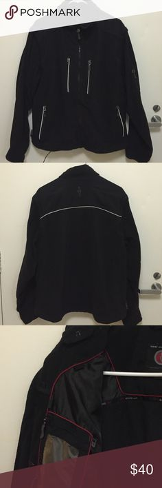 Men's Tec jacket Awesome men's medium TEC fleece jacket. Inside spots  for MP3 and headphones. Also ID and phone pockets. Machine washable . Great used condition . Black. Reflective stripes. Zip out sleeves can be worn as vest. TEC Jackets & Coats Performance Jackets