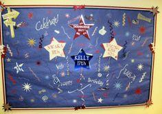 4th of July Birthday board.