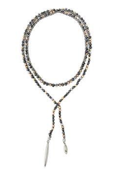 Zoe Lariat Necklace - Hematite by Stella & Dot