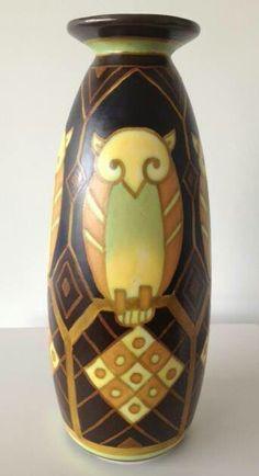 Boch Freres Keramis Matte Enamel Vase c. 1930