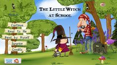 The Little Witch at School - Android app for kids - an interactive book (about 25 pages long) with extra activities. Interactive Books For Kids, School Reviews, Album Jeunesse, French Education, School Games, School App, Too Cool For School, Best Apps, Elementary Schools