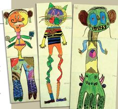 exquisite corpse - @Annette Howard Howard Howard Howard Howard Howard rullman, this is what i was talking about the other day - i think your students would love this project!