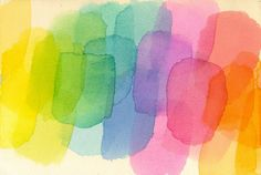Abstract watercolor color effects study # 012