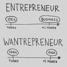 Execution is everything. Don't be a wantrepreneur.