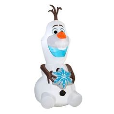J. Marcus 6-ft x 2.67-ft Lighted Olaf Christmas Inflatable
