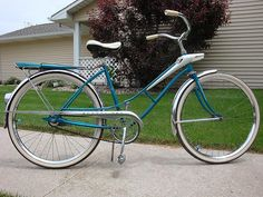"""""""1964 Sears Spaceliner ladies"""" by FullCycleSandi via Flickr. The photographer writes: """"Still sporting her original Sears Allstate tires!!"""""""