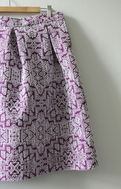 Purple Pleated Upholstery Skirt by Becky M | Project | Sewing / Skirts | Women's…