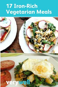 17 Iron-Rich Vegetarian Meals - - 17 Iron-Rich Vegetarian Meals Iron Rich Foods Create an iron-rich vegetarian meal plan by choosing these iron-rich recipes. We've got you covered for breakfast, lunch, dinner, and even dessert. Vegetarian Iron, Vegetarian Kids, Vegetarian Dinners, Vegetarian Recipes, Healthy Recipes, Vegetarian Sandwiches, Vegetarian Breakfast, Vegetarian Italian, Paleo Meals