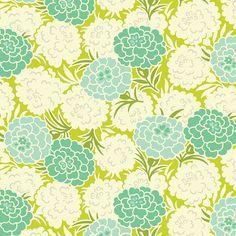 Mum Toss Chartreuse (PWHB043) - Heather Bailey UP PARASOL - Free Spirit Fabric  - 1 Yard