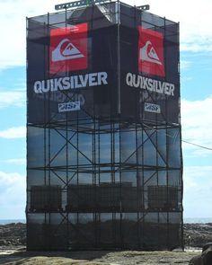 Polymesh banner on scaffolding.