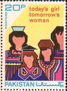 Today's girl, tomorrow's woman. Pakistan, 1975.