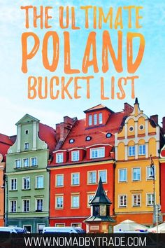 Wondering where to go in Poland? This bucket list has all the top things to do in Poland. Featuring things to do in Krakow things to do in Warsaw things to do in Gdansk hikes in the Tatra Mountains UNESCO sites and more! Europe Travel Tips, European Travel, Travel Guides, Travel Destinations, Poland Destinations, European Vacation, European Destination, Travel Deals, Travel Hacks