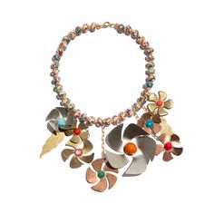 Shop this beautiful Missoni flower necklace from 1990s and much more on www.LaDoubleJ.com
