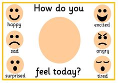Printable Feelings Mat Emotions How do you feel today ADHD image 1 Feelings Preschool, Feelings Activities, Art Therapy Activities, Preschool Learning Activities, Eyfs Activities, Feelings Chart, Feelings And Emotions, Social Emotional Activities, Emotion Faces