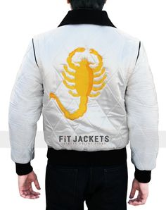 Drive Scorpion movie Jacket is created by Fit Jackets for the fans of Ryan Gosling.Get with free worldwide shipping & discounted price offer! Best for causal hangouts, bikers, clubs, and dates. Order right now!  #Scorpion #RyanGosling #Drive #Shopping #Sexy #Hot #Fashion #Stylish #MensCoat #LeatherOutfit #MensOutfit #MensFashion #StyleMens #MensClothing