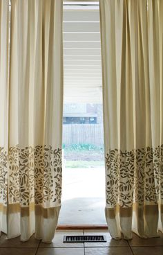 I have had a set of cotton twill curtains in my house for years. I don't really remember where I bought them anymore; they have just been a part of my home for ages. This spring, I got a set of new set of (more energy efficient) French doors to replace the 1950s era sliding... Read on