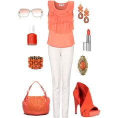 Tangerine the smashing new color for Spring! Pick up some shimmery coral long wearing lip color to go with it!