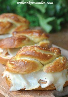 Turkey and pretzel bread makes the most delicious lunch sandwich.