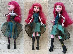 Monster High Clothes hand made Dress ooak jewelry by MonstersNight, by Monstersnight