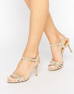 Dune Gold Metallic Maci Strappy Sandals
