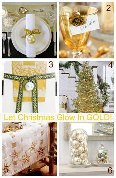 Gold Holiday Decorating