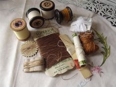 Vintage Sewing Items Including Wooden Cotton Reels - Lovely Lot | eBay