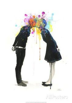 Big Bang Kiss Plakat av Lora Zombie hos AllPosters.no