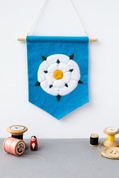 Yorkshire Rose Pennant Flag by amypanda on Etsy