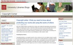 """Ohio State Universities """"Copyright Corner"""" blog - read this article about protecting your works (your family stories, your blog, your photos, etc.) http://library.osu.edu/blogs/copyright/2014/04/02/copyright-online-what-you-need-to-know-about-protecting-your-works-and-using-the-works-of-others/"""