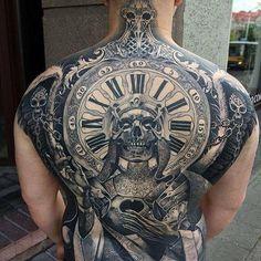 Badass Back Tattoos - Best Tattoo Ideas For Men: Cool Badass Tattoos For Guys - Awesome Designs Tattoos For Guys Badass, Cool Back Tattoos, Back Tattoos For Guys, Back Tattoo Men, Backpiece Tattoo, Skull Tattoos, Body Art Tattoos, New Tattoos, Tattoo Bird