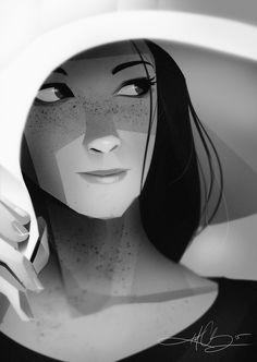 Kurt Chang / chapeau / visage / contraste / regard / expression / personnage / portrait / trait / composition