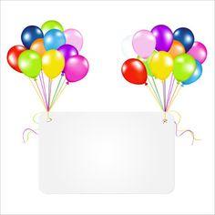 BANCO DE IMÁGENES: Imágenes de cumpleaños con globos de colores, pasteles y regalos para personalizar con tus propios mensajes - Happy Birthday Messages